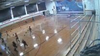 Microburst blows through school gym
