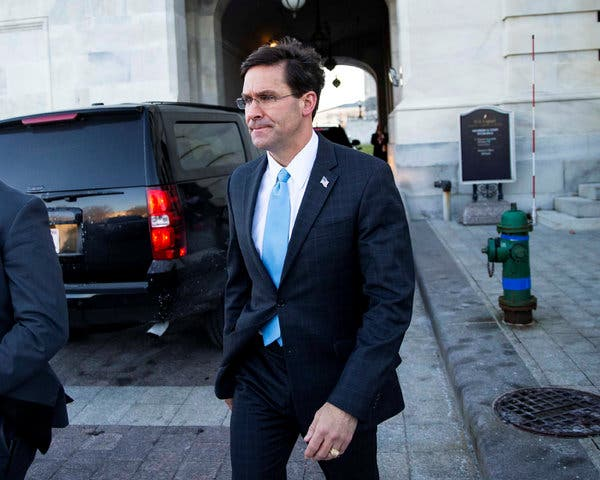 The muddled message on Sunday by Defense Secretary Mark T. Esper and other administration officials only added to the public debate around the strike.