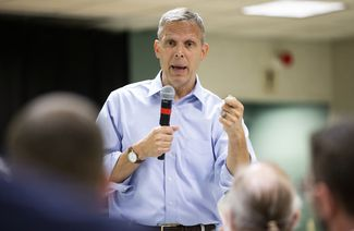 Rep. Scott Perry holds a town hall meeting at the Hummelstown Fire Hall