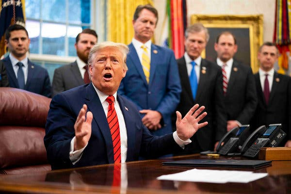 President Trump at the Oval Office on Tuesday.