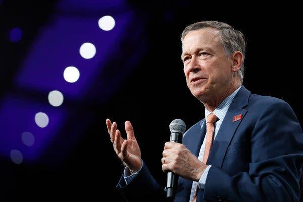 Former Gov. John Hickenlooper of Colorado briefly ran for president last year.