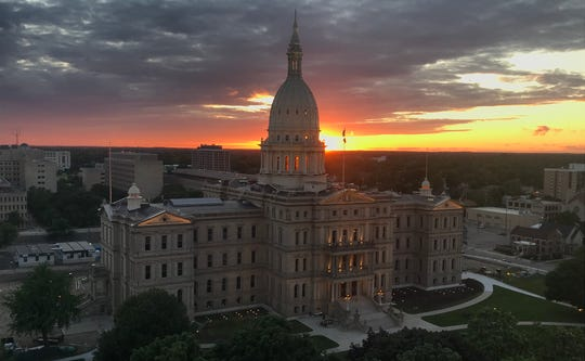 The Michigan Capitol is pictured on Tuesday. June 23, 2020.