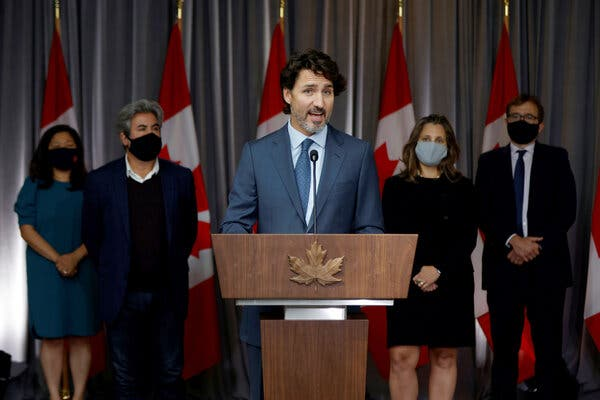 Prime Minister Justin Trudeau of Canada will reveal his much-anticipated legislative plan on Wednesday.