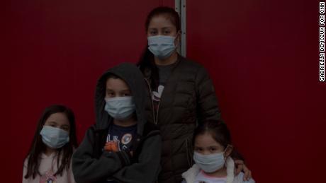 Lesly Puebla took her three children with her to vote in Durham, North Carolina.